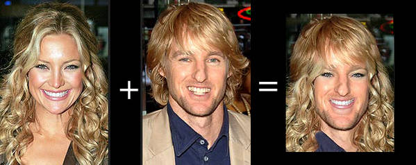 owen wilson and Kate hudson blended morphed
